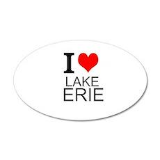 I Love Lake Erie Wall Decal