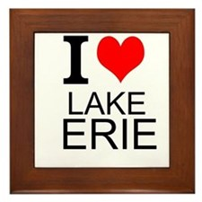 I Love Lake Erie Framed Tile