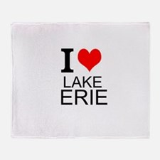 I Love Lake Erie Throw Blanket