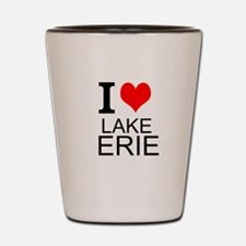 I Love Lake Erie Shot Glass
