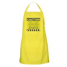 Caution K spoken here Apron
