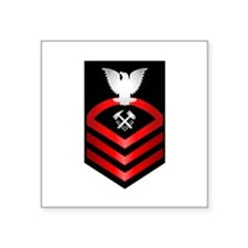 "Cool Navy officer Square Sticker 3"" x 3"""