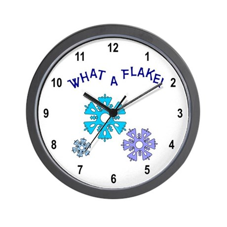 What A Flake Wall Clock