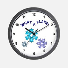 What A Flake Wall Clock