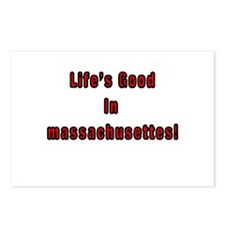LIFE'S GOOD IN MASSACHUSETTES Postcards (Package o