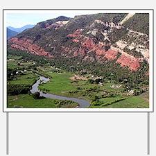 Near Durango, Colorado, from the air Yard Sign