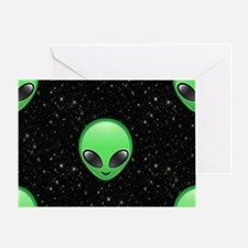 alien emojis Greeting Card