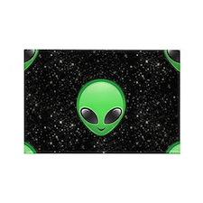 alien emojis Rectangle Magnet