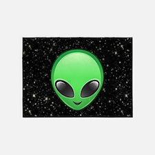 alien emojis 5'x7'Area Rug