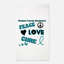 Childhood Cancer Awareness Area Rug