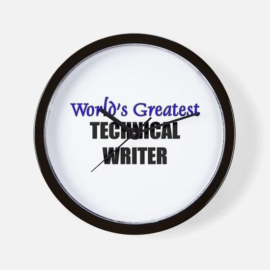 Worlds Greatest TECHNICAL WRITER Wall Clock