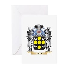 Tilly Coat of Arms - Family Crest Greeting Cards