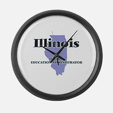 Illinois Higher Education Adminis Large Wall Clock