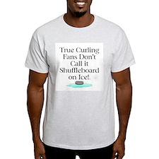 TOP Curling Slogan T-Shirt