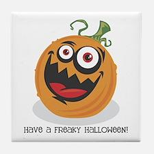 Freaky Halloween Tile Coaster