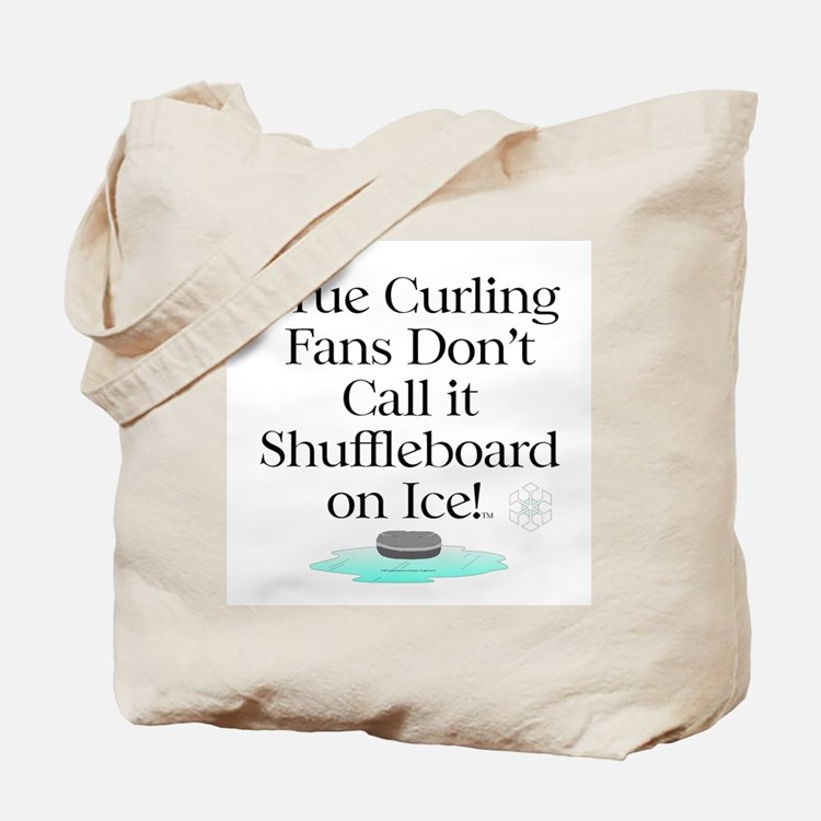 Curling Slogan Tote Bag