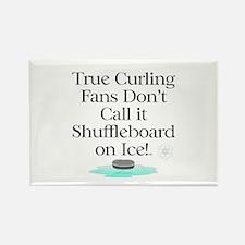 Curling Slogan Rectangle Magnet