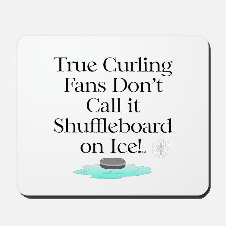 Curling Slogan Mousepad