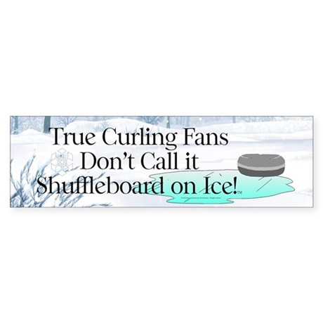 TOP Curling Slogan Bumper Sticker