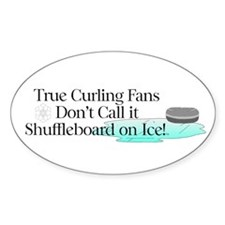 TOP Curling Slogan Oval Decal