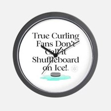 Curling Slogan Wall Clock