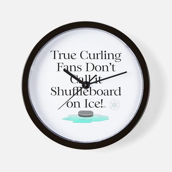 Curling Slogan Wall Clock