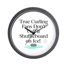 TOP Curling Slogan Wall Clock