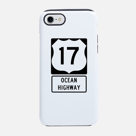 US Route 17 Ocean Highway iPhone 8/7 Tough Case