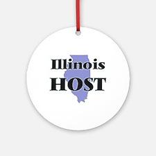 Illinois Host Round Ornament