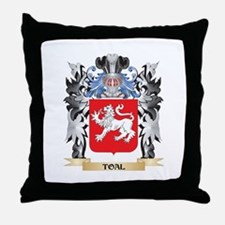 Toal Coat of Arms - Family Crest Throw Pillow