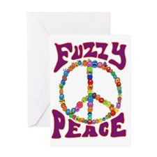 Fuzzy peace Greeting Cards