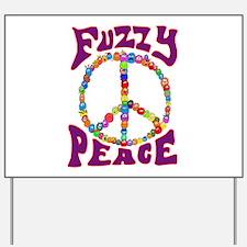 Fuzzy peace Yard Sign