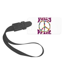 Fuzzy peace Luggage Tag