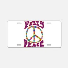 Fuzzy peace Aluminum License Plate