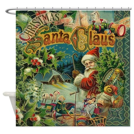 Christmas Santa Claus Antique Vintage Victorian Sh