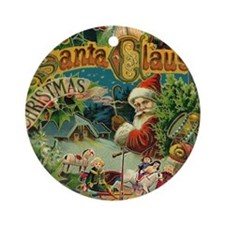 Christmas Santa Claus Antique Vintage Victorian Ro