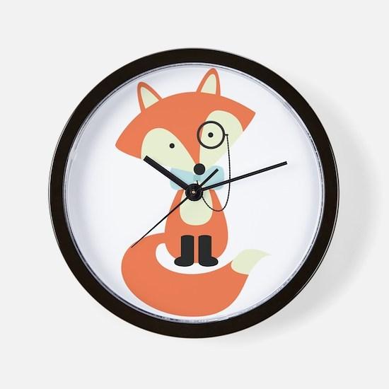 Funny Cute fox Wall Clock