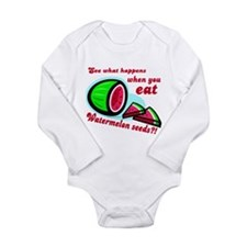 Unique Watermelon Long Sleeve Infant Bodysuit