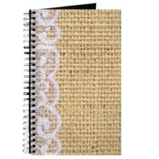 burlap and lace shabby chic Journal