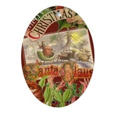 Vintage Christmas Santa Claus in Victorian Sleigh