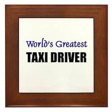 Worlds Greatest TAXI DRIVER Framed Tile