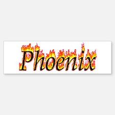Phoenix Flame Bumper Bumper Bumper Sticker