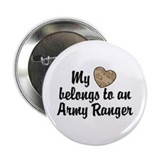 My Heart Belongs To an Army Ranger Button