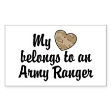 My Heart Belongs To an Army Ranger Decal