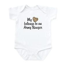 My Heart Belongs To an Army Ranger Infant Bodysuit