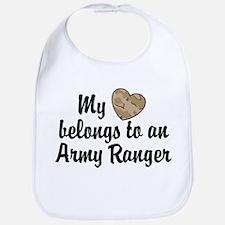 My Heart Belongs To an Army Ranger Bib