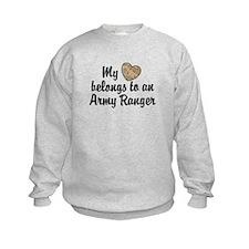 My Heart Belongs To an Army Ranger Sweatshirt
