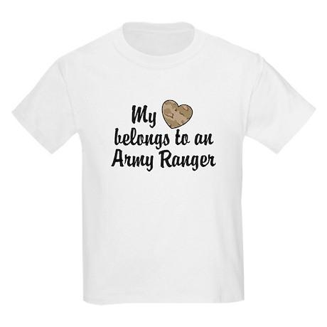 My Heart Belongs To an Army Ranger Kids Light T-Sh