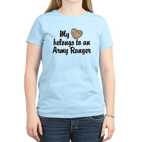 My Heart Belongs To an Army Ranger Women's Light T