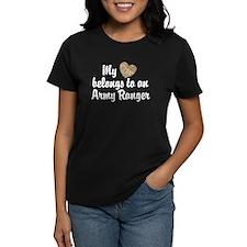 My Heart Belongs To an Army Ranger Tee
